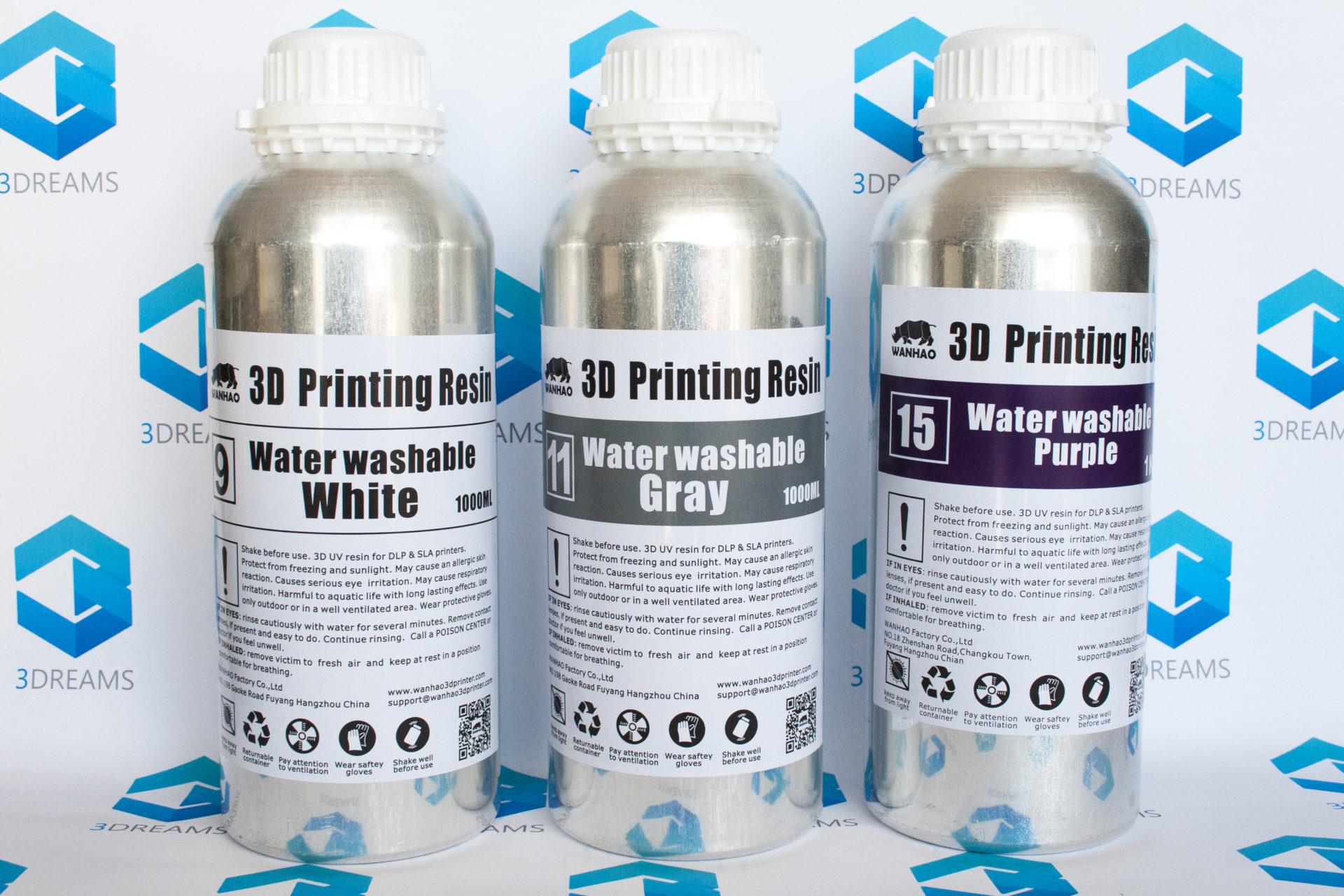 Фотополимерная смола Wanhao Water Washable UV resin купить киев харьков днепр одесса запорожье львов 1