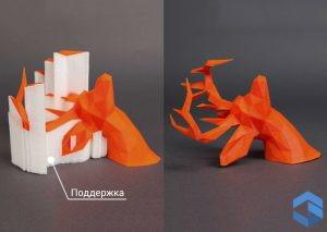 Поддержка при 3D печати