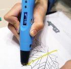 3D ручка Myriwell RP400A с LCD экраном синяя купить киев харьков одесса днепр