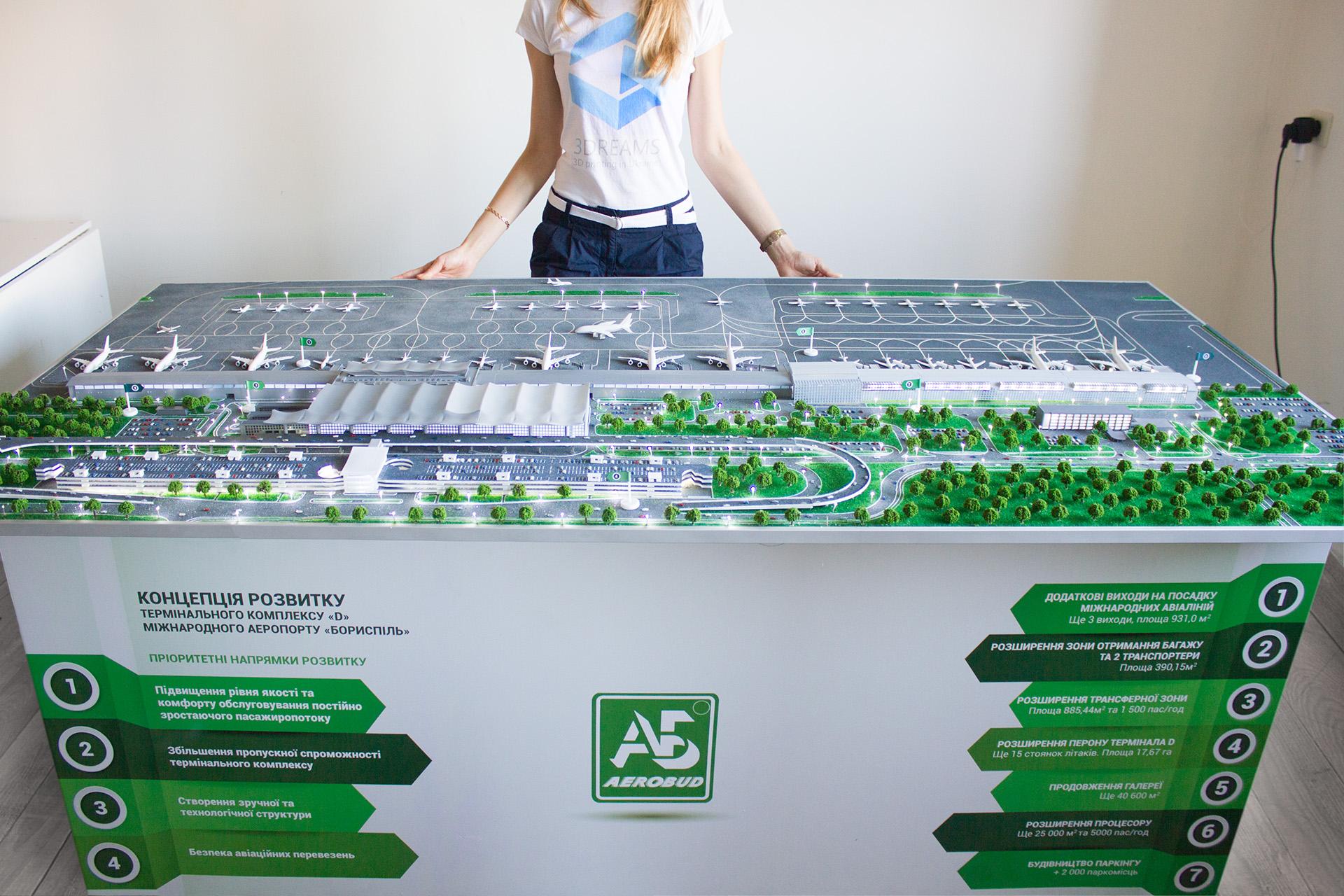 Макет аэропорта Борисполь