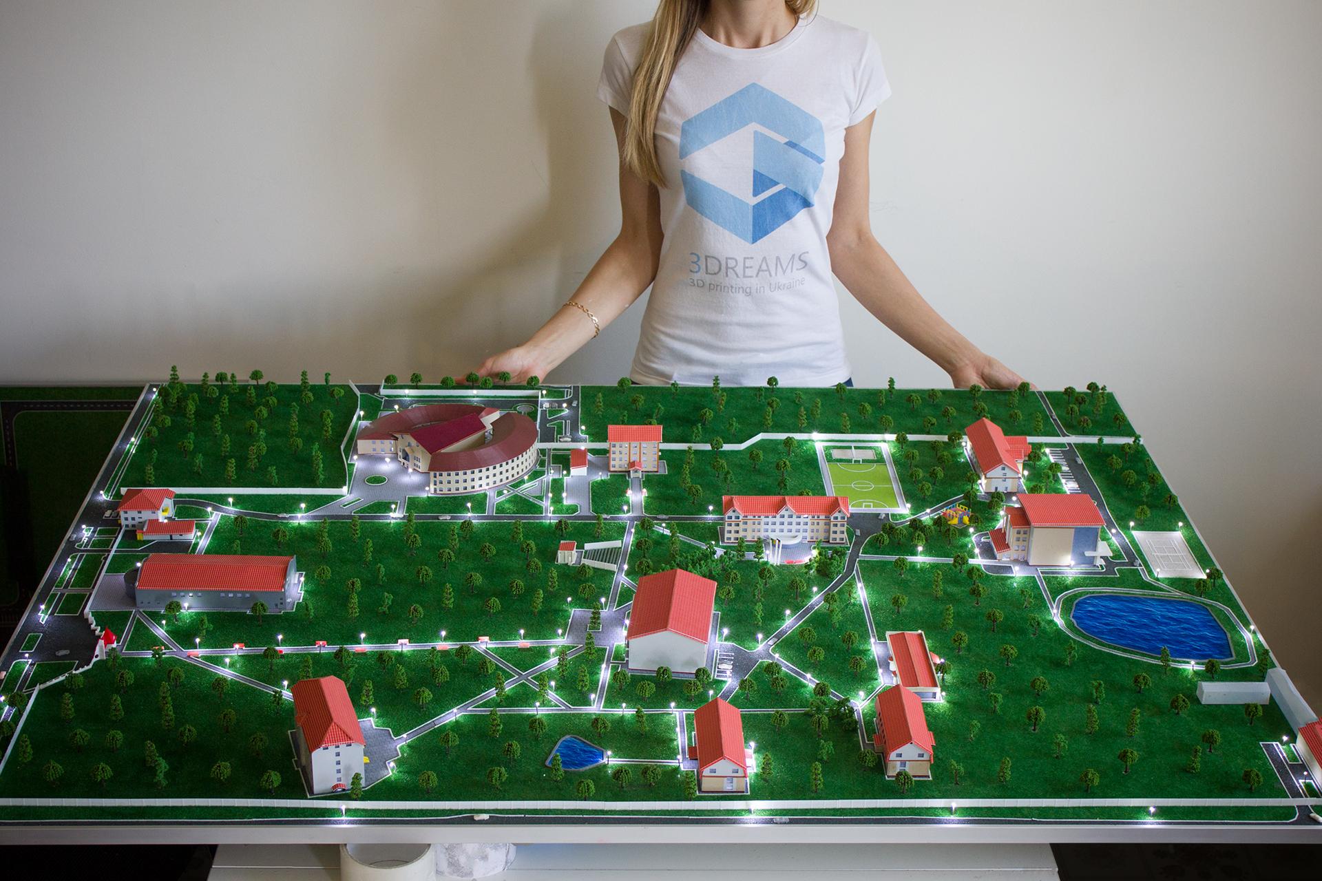3D печать макета института
