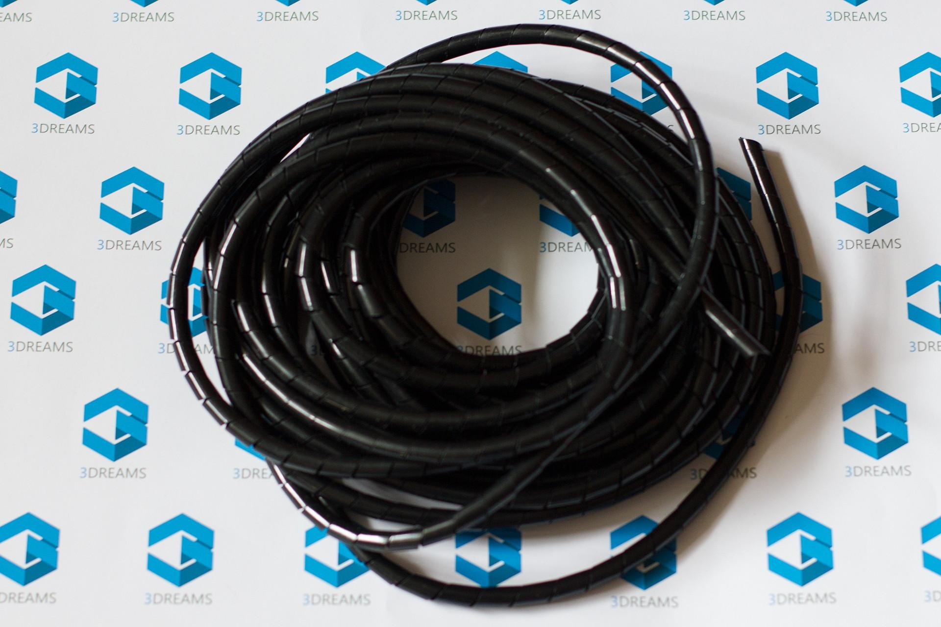 Гибкая спиральная оплетка (держатель) кабелей 8мм для 3D принтера купить украина 4