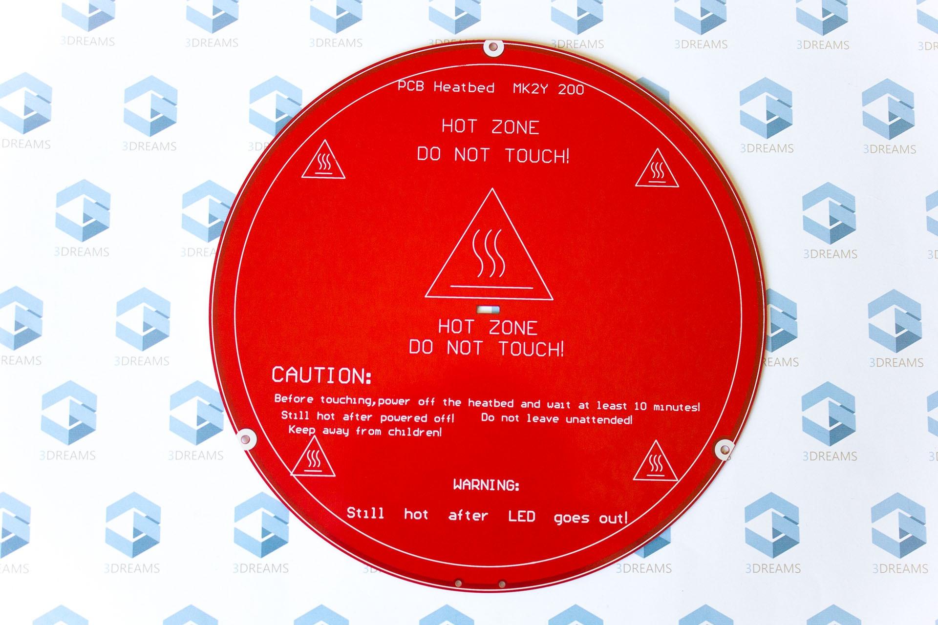 Круглая нагревательная платформа (стол) 3D принтера Delta (rostock) купить украина