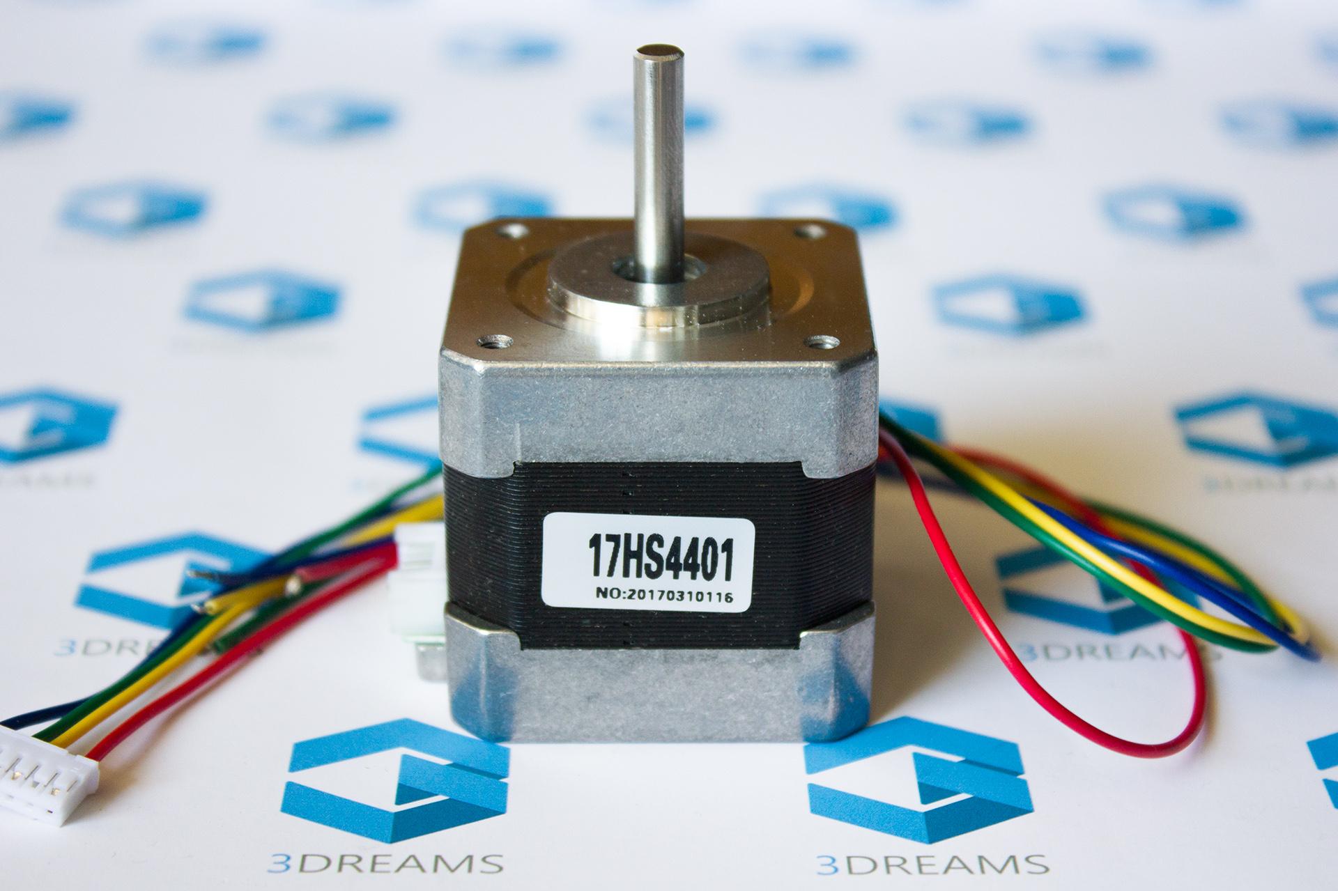 Шаговый двигатель NEMA17 17HS4401 для 3D принтера купить киев харьков днепр запорожье одесса львов
