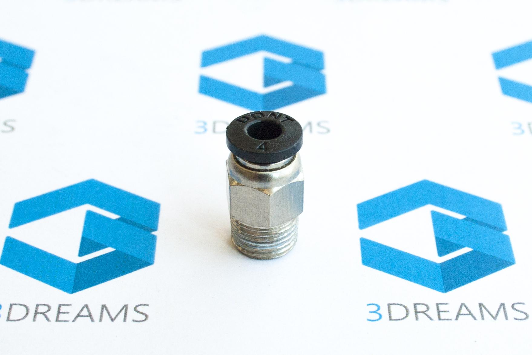 Фитинг PC4-М10 для 3D принтера (нить 1.75мм) купить украина 1