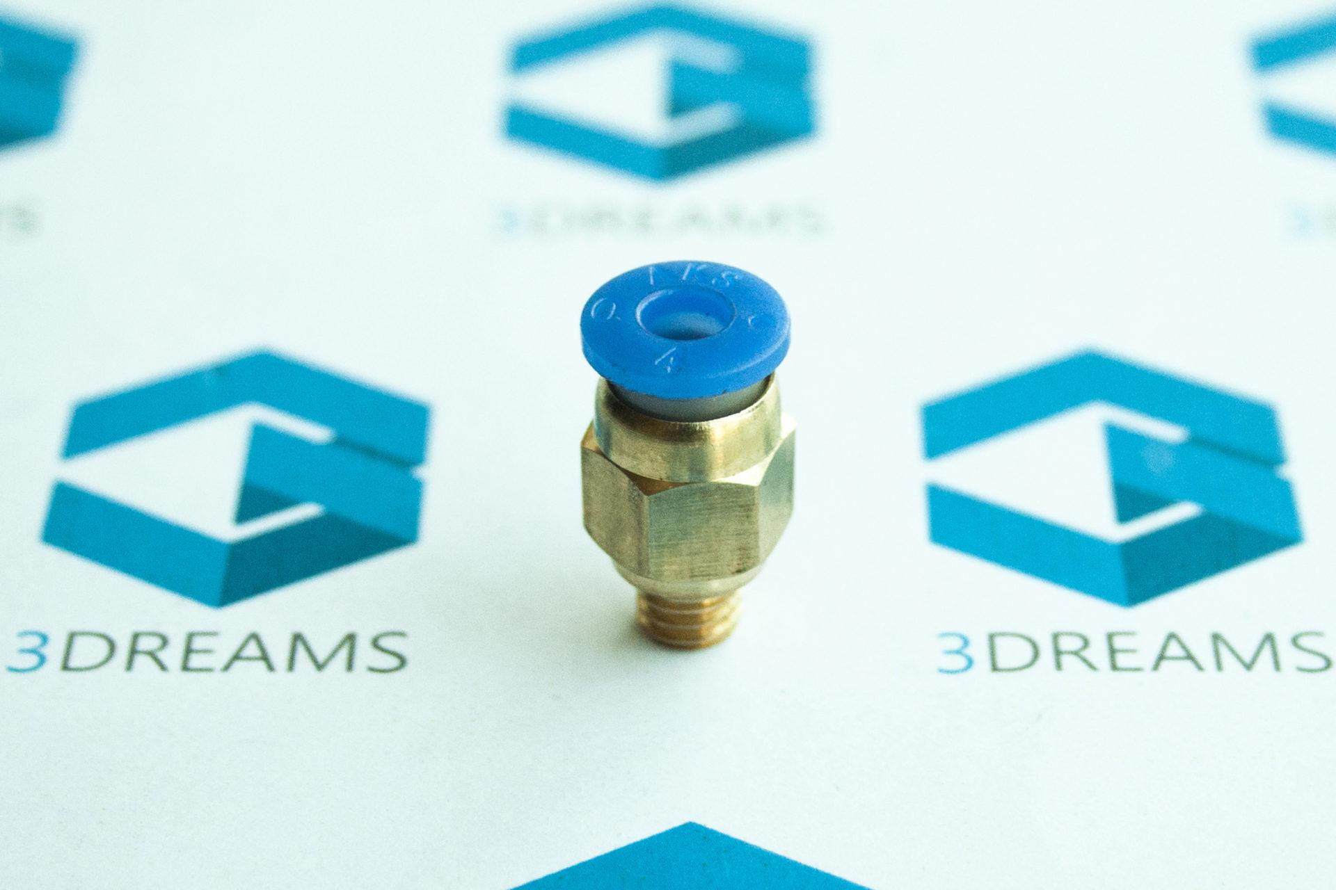 Фитинг PC4-М6 для 3D принтера (нить 1.75мм) купить украина 1