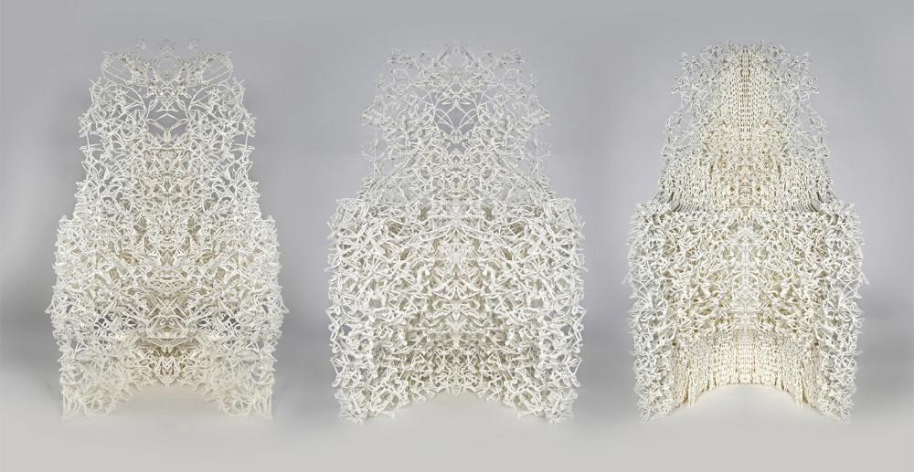 стул напечатанный на 3d принтере