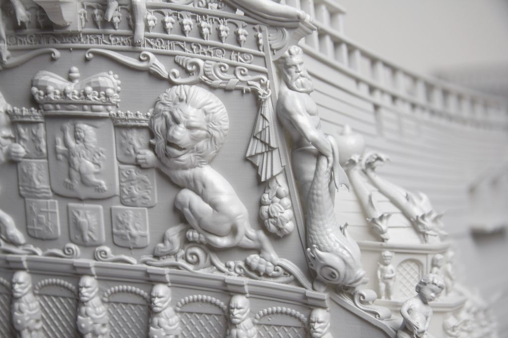 3d печать элементов модели корабля