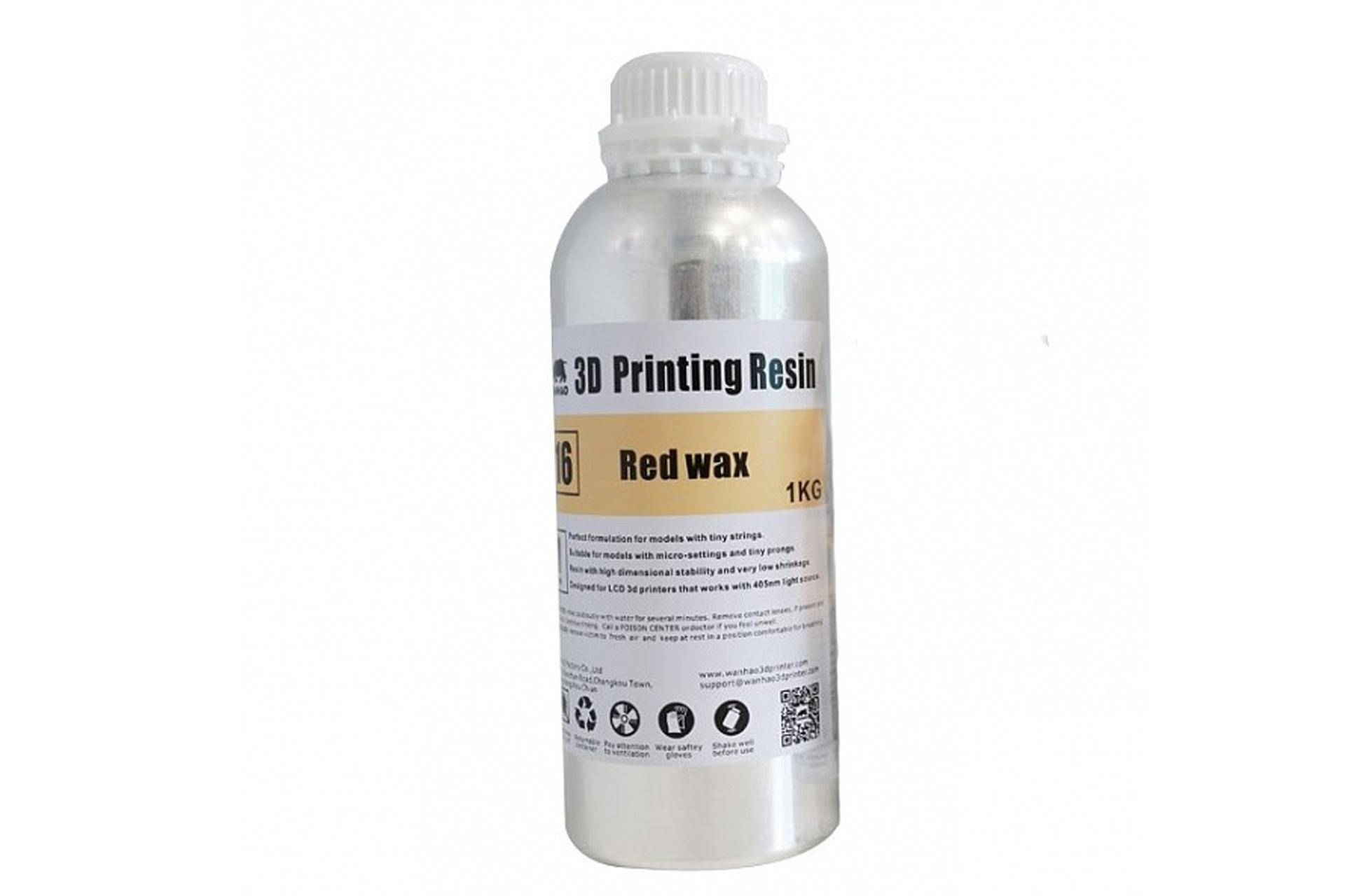 Фотополимерная смола Wanhao Red Wax UV resin, 1л купить украина